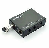 Multimode MM LC Fiber Media Converter for 10/100/1000 GE Network 550m 850nm SFP