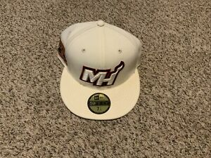 Miami Heat New Era Hoop Team Collection 59FIFTY Fitted Hat Men's Size: 7 1/4