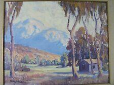 Mt. Baldy California Listed A.W. Johnston Oil on Canvas 1931