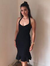 Vestido de Boda D&G Dolce Gabbana Negro Lápiz Fiesta Tamaño 26 tamaño 8 10 LBD