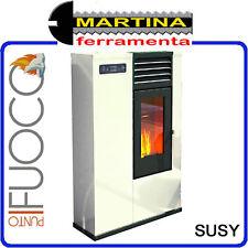 STUFA A PELLET PUNTO FUOCO SUSY SLIM 7,5 KW COLORE AVORIO BY EVA CALOR