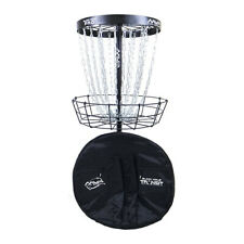 MVP Disc Golf Basket Black Hole Pro + Transit Carrying Bag Catcher Target