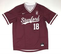 New Nike Stanford Cardinal Baseball Jersey Men's Large #18 AA9769 Maroon White
