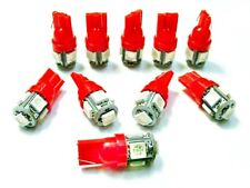 10 Red Fits Plymouth BRIGHT 12V LED 194 Wedge Instrument Panel Light Bulbs NOS