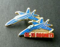 HORNET FA-18 BLUE ANGELS FORMATION LAPEL HAT PIN NAVY USN BADGE 1.5 INCHES