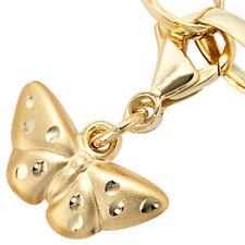 Charm Anhänger Einhänger Schmetterling aus 333 Gold mattiert, Charms, Dangle
