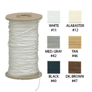 Shade & Blind Lift Cord 30 ft (10 yds) Choose Size & Color