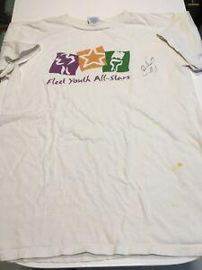 VTG 1996 Fleet Youth All-Stars T-Shirt Antoine Walker Autograph Celtics Apex One