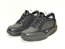 WOMENS MBT BLACK LEATHER & SUEDE EXERCISE TRAINERS 400149-03 SZ 5.5 UK 39 EUR