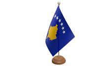 KOSOVO PICCOLO DA TAVOLO BANDIERA CON di legno supporto