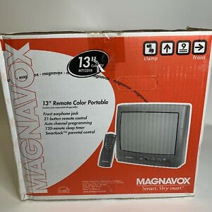 "New Magnavox 13"" Color TV Retro Gaming W/ Remote Original Box MT1331B"