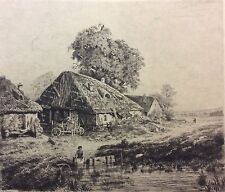 Noël Masson (1854-1889)  Barbizon gravure Salon de 1882