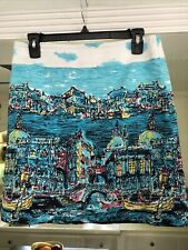 Talbots Petites Venice Abstract Pencil Skirt SIZE 4P PERFECT COND FREE SHIP