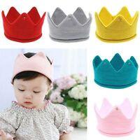 Baby Kids Headwear Crown Knit Headband Hat Photography Props Boys Girls