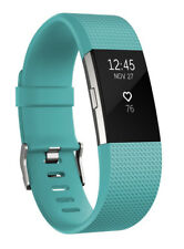 Fitbit Charge 2 Teal Silver Watch FB407STES Unisex