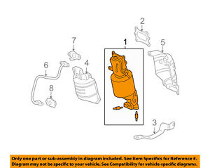 18190R70A20 Acura OEM 12-14 TL 11-14 TSX Front Catalytic Converter