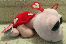 Applause Russ Pink Red Plush Love Bug Heart Turtle w Tags 49565 Valentines Toy