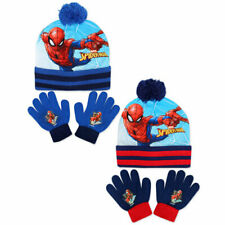 Official Spiderman Hat and Glove Set Kids Winter Hat & Gloves- Xmas Gift-kids se