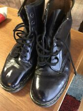Dr Martens Black Classic 8 Eyelet Boots Size UK 8  US 9 EU 42 Made In England