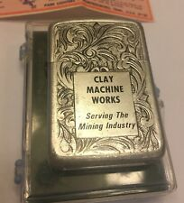 Vintage Parker Advertising Lighter Clay Machine Works w/Case & instructions