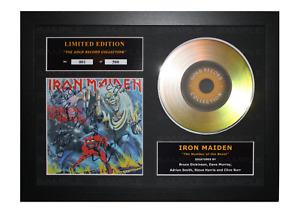 Iron Maiden Signed Gold Disc Album Ltd Edition Framed Picture Memorabilia