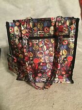 SYDNEY TO GO by Sydney Love Lg Canvas Vibrant Multicolor Travel Tote Coin Purse