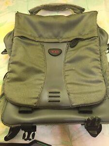 Tumi Nylon Gray Backpack Crossbody Messenger 589PW Shows Wear