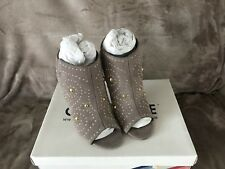 Womens Office Grey Suede Pull On High Heels UK Size 3 New In Box