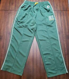Reebok Gridiron Classic Green Bay Packers Track Pants Mens XL Green