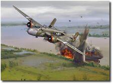 501st Bomb Squadron's Mission to Saigon- Canvas A/P– Jack Fellows- B-25 Mitchell