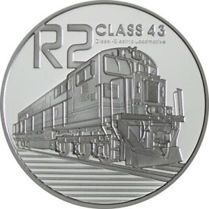 South Africa - 2 Rand Silver Be / Proof 2013 - Class Locomotive 43