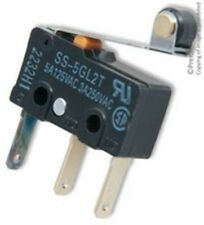 Omron SS-5GL2T - Microswitch, Subminiature, Hinge Roller Lever, SPDT, Quick Conn