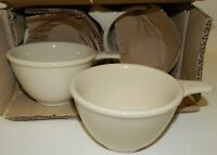 Set of 6 NOS White REGO Restaurant Ware Handled Soup Chili Bowls