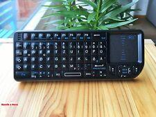 Rii k01 v3 Mini Tastiera Wireless con Touchpad Puntatore Laser illuminato de-layout