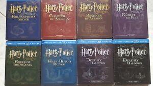 Harry Potter Lotto 8 Steelbook  Collezione completa  Limited edition Blu-ray