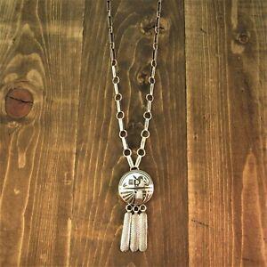 Vintage Sterling Silver  Santo Domingo Necklace by Leo Coriz