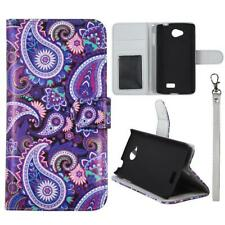 Case for LG Optimus F60 Leather Wallet Pouch Flip Cover ID Card Pocket