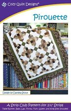 STRIP CLUB- PIROUETTE QUILTING PATTERN, From Cozy Quilt Designs NEW