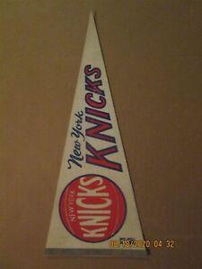 NBA New York Knicks Vintage Circa 1969 Team Logo Basketball Pennant