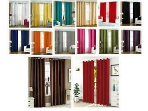 Door Curtain For Bedroom Blackout Room Darkening Solid Polyester Window Curtain