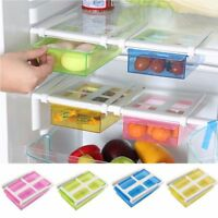 Kitchen Holder Refrigerator Shelf Pull-out Drawer Slide Fridge Storage Rack
