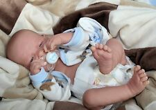 "AWW! BABY BOY ""PUPPY LOVE""! Preemie Life Like Reborn Pacifier Doll + Extras"