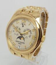 Patek Philippe Anual Calendario Reloj para Hombres Oro Amarillo 18K 37 mm b&ps 5036/1J-001