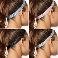 Headband Women Anti-slip Yoga Hair Band Elastic Silicone Sweatband Sports