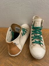 Levis Premium Raw Denim Canves Hi Top Beige Shoe 22327622 Mens Sz 8.5