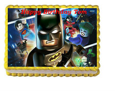 Lego Batman Birthday Party Edible Cake Topper Image Decoration Frosting Sheet