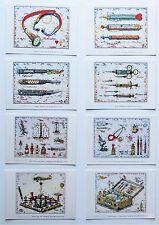 Leslie G. Hunt Arztserie  8-ter Postkartenset
