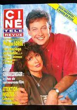 Ciné Télé Revue 11/07/1992; Philippe Soreil/ Arnold Schwarzenegger/ Aznavour
