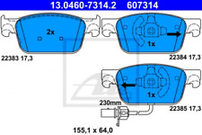 Bremsbelagsatz, Scheibenbremse für Bremsanlage Vorderachse ATE 13.0460-7314.2