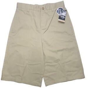 French Toast Boys Size 14 Khaki Uniform Shorts Adjustable Waist Schoolwear